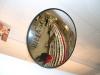 Зеркало обзорное для помещений круглое